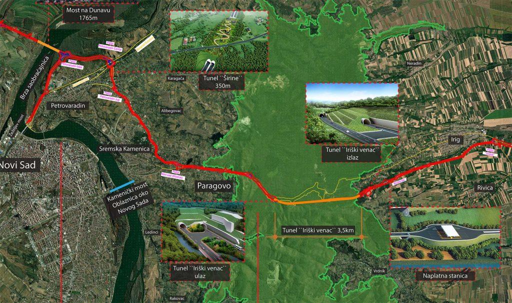 Fruškogorski koridor-mapa